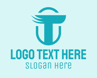 Small Business - Winged Letter T logo design