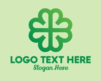 Heart - Modern Shamrock Clover  logo design
