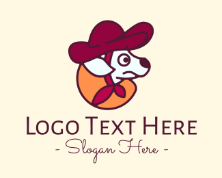 Pet Grooming - Cowboy Dog logo design