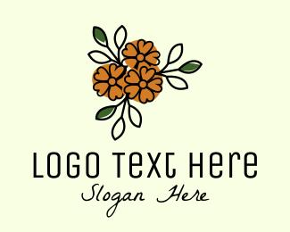 Flower Boutique - Flower Store Line Art logo design