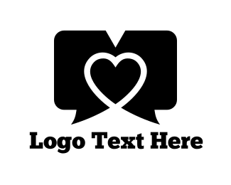 Speech Bubble - Dating Chat logo design