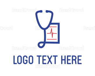 """""""Blue Stethoscope"""" by thelogodesign"""