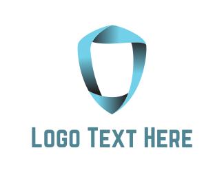 Ribbon Shield Logo
