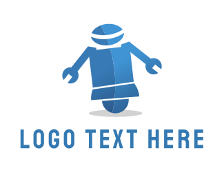 Robot - Wrench Robot logo design