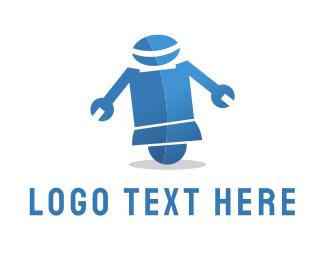 Robotics - Wrench Robot logo design