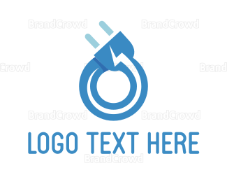 Energy - Thunder Plug logo design