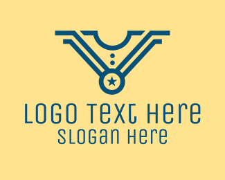 Recognition - Star Medal Uniform logo design
