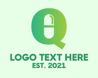 Pharmaceutic - Medical Letter Q logo design