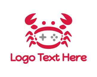 Crab - Red Crab Gaming logo design