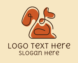 Woodland - Brown Squirrel Doodle  logo design