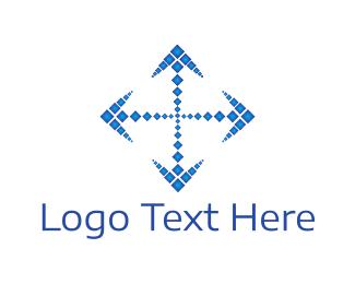 Cursor - Arrow Cross logo design