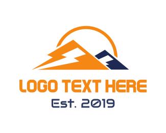 Breakup - Mountain Lightning  logo design