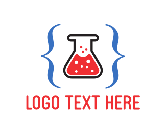 Test Tube - Code Lab  logo design