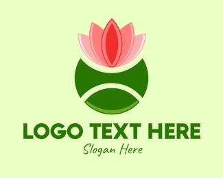 Tennis - Lotus Tennis Ball logo design