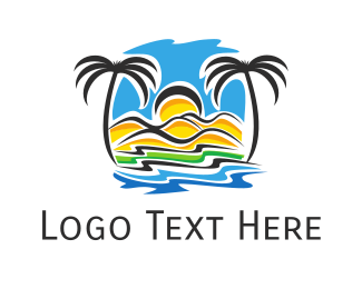 Island - Tropical Shore logo design