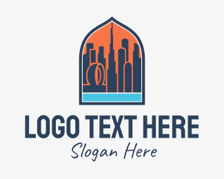 Tourist Attraction - Dubai City Emblem  logo design
