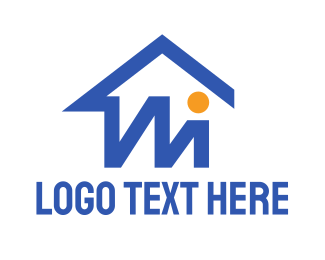 Carpentry - Basic M House logo design