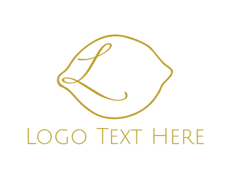 Yellow Lemon - Lemon Outline logo design