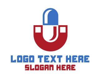 Pharmacist - Magnet Pill logo design