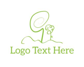 Doodle - Green Garden logo design