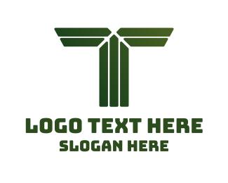 Army - Green Shape T logo design