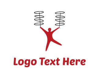 Magician - Red Juggler logo design