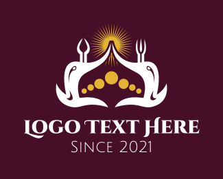 King - Muslim Temple Crown logo design