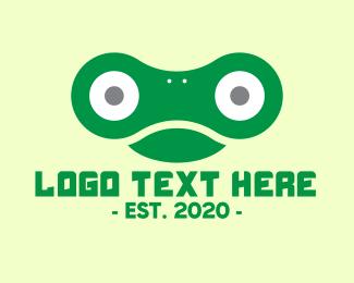 Link - Green Chain Frog logo design