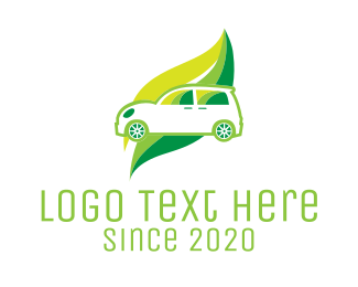 Car Hire - Green Eco Automotive Car logo design