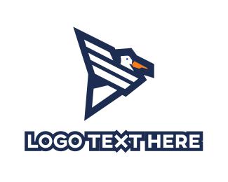Pelican - Modern Pelican logo design