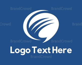 White - White Chat logo design