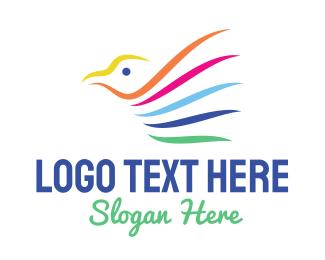 Sparrow - Colorful Sparrow logo design