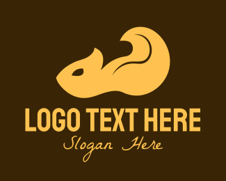 Pictorial - Orange Squirrel logo design