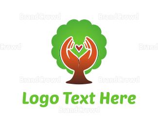 Donation Center - Nature Love logo design