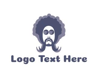 Psychedelic - Hippie Man logo design