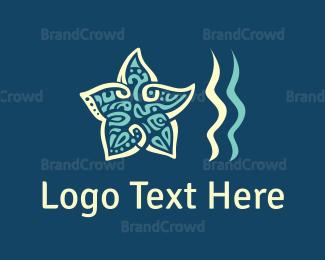 Beachwear - Star & Waves logo design