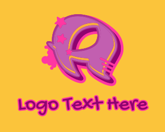 Record Producer - Graffiti Star Letter A logo design
