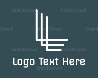 Letter L - White L Line Stroke logo design