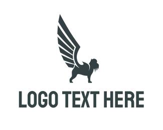 Winged - Grey Griffin logo design