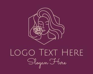 Perfume - Woman Rose Perfume logo design