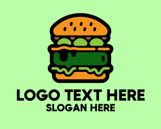 Fake Meat - Vegan Food Burger Restaurant logo design