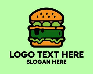 Yummy - Vegan Food Burger Restaurant logo design