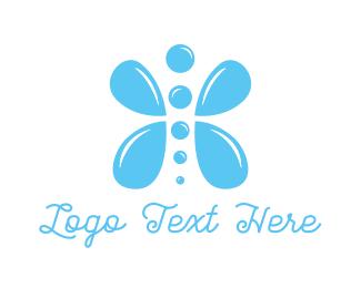 Butterfly - Water Butterfly logo design