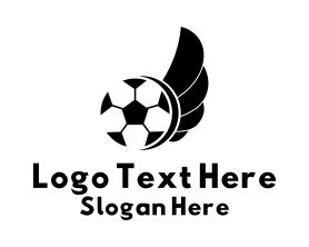 Free - Soccer Wings Sports logo design