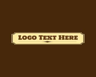 Saloon - Cowboy Wordmark logo design