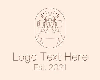 Massage - Woman  Massage Parlor logo design
