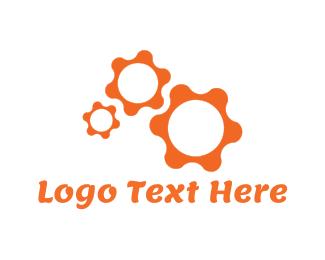 Gear - Orange Gear logo design