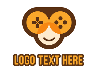 Social Media - Monkey Game Controller logo design