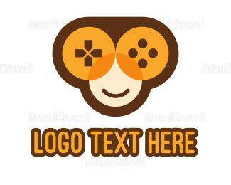 Monkey - Monkey Game Controller logo design