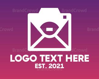 Messenger - Abstract Messenger Camera logo design